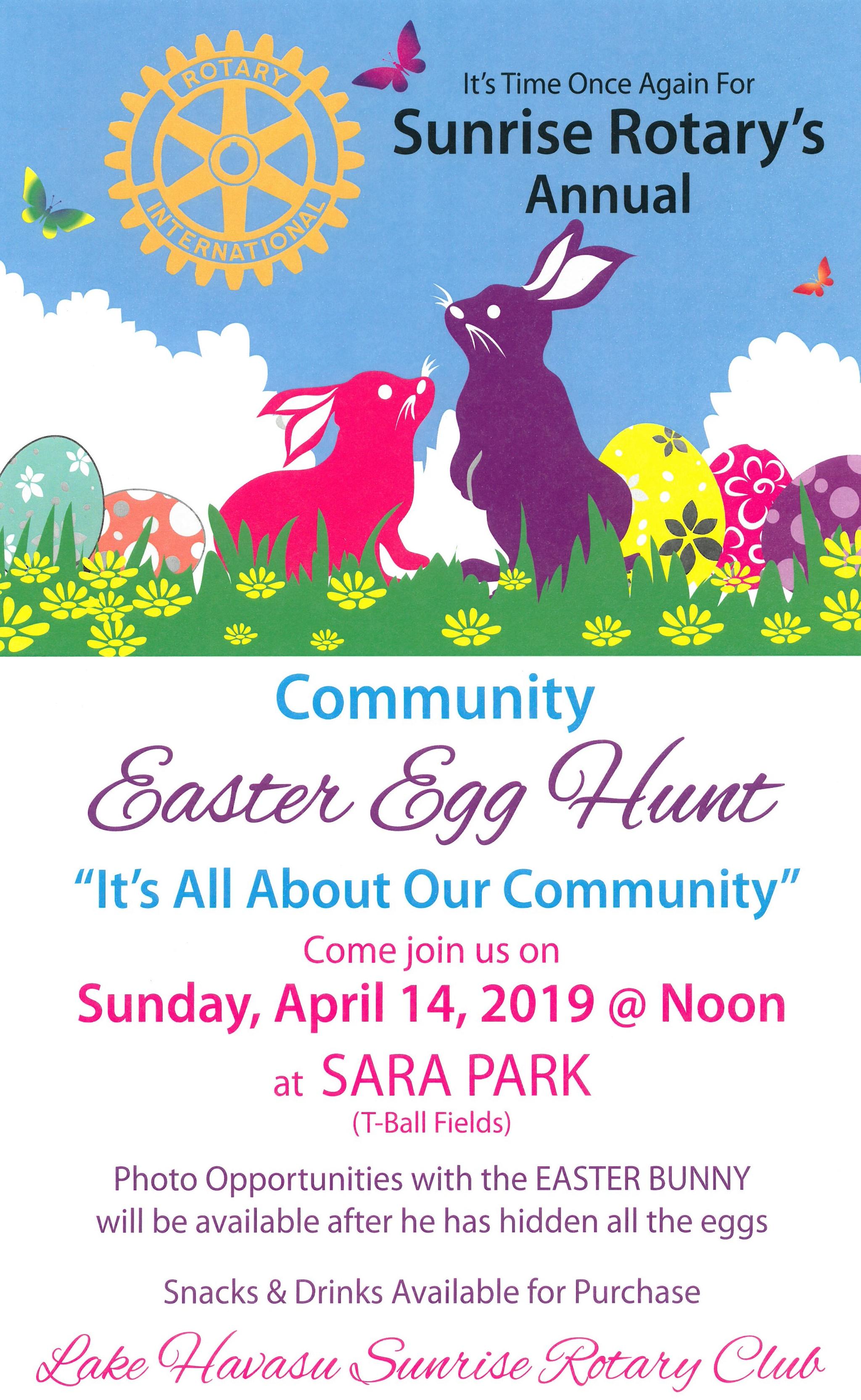 Lake Havasu Sunrise Rotary Club Annual Easter Egg Hunt