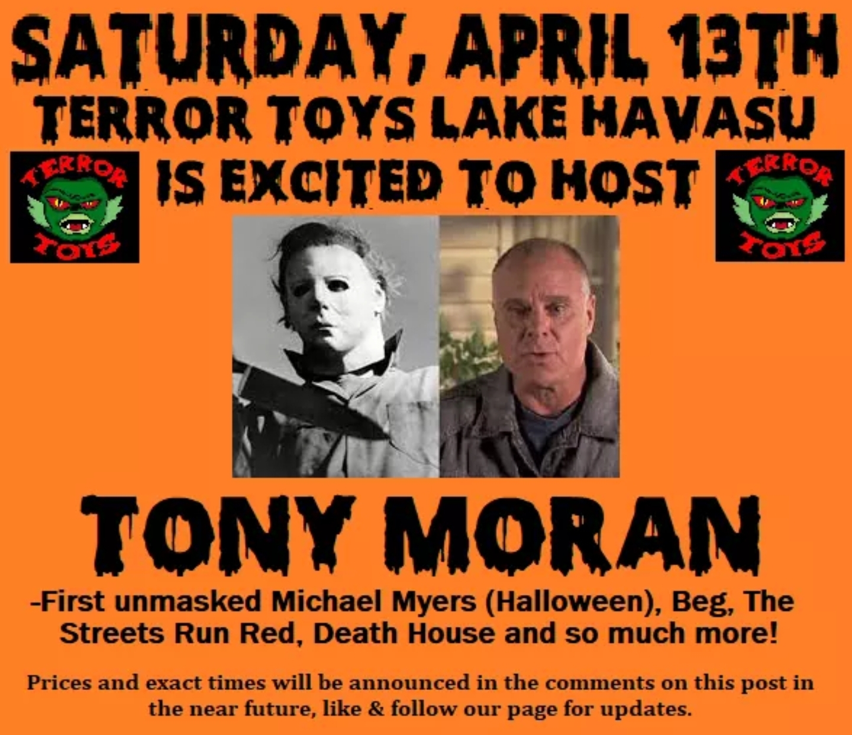 Tony Moran Michael Myers of Halloween  Autograph Signing