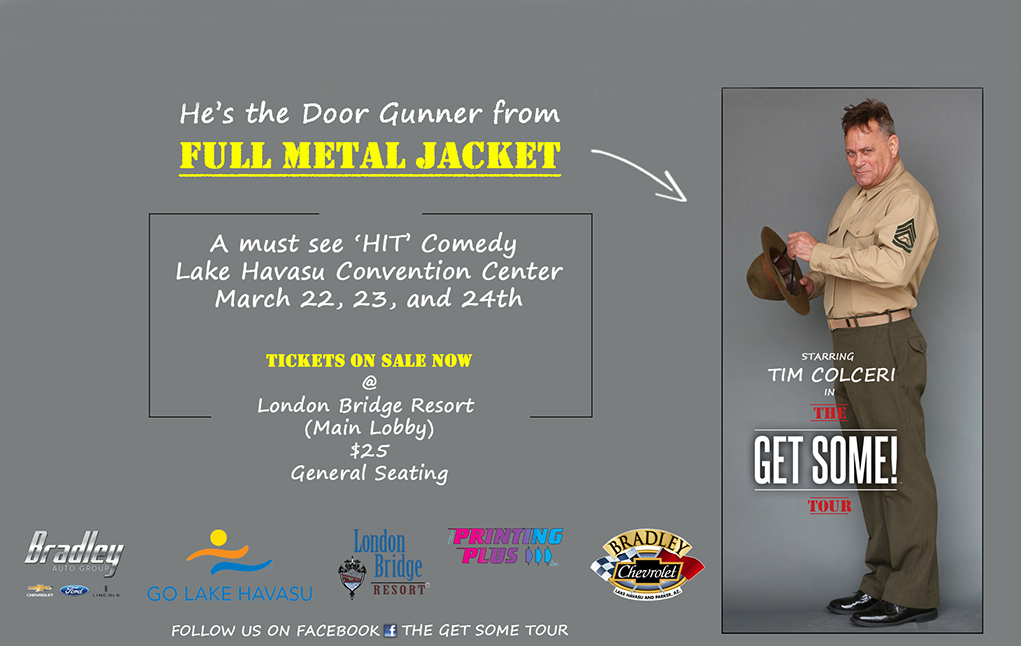 'Full Metal Jacket' Inspired 'Get Some!' Comedy Tour Comes To Town