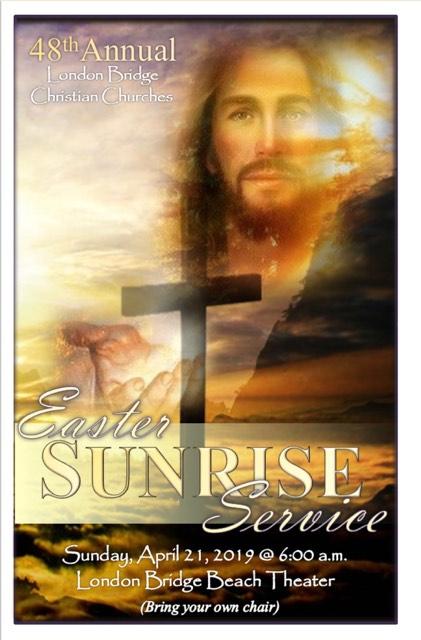 Easter Sunrise Service at London Bridge Beach