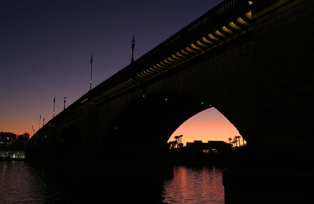 London Bridge Turns Purple For Domestic Violence Awareness Month
