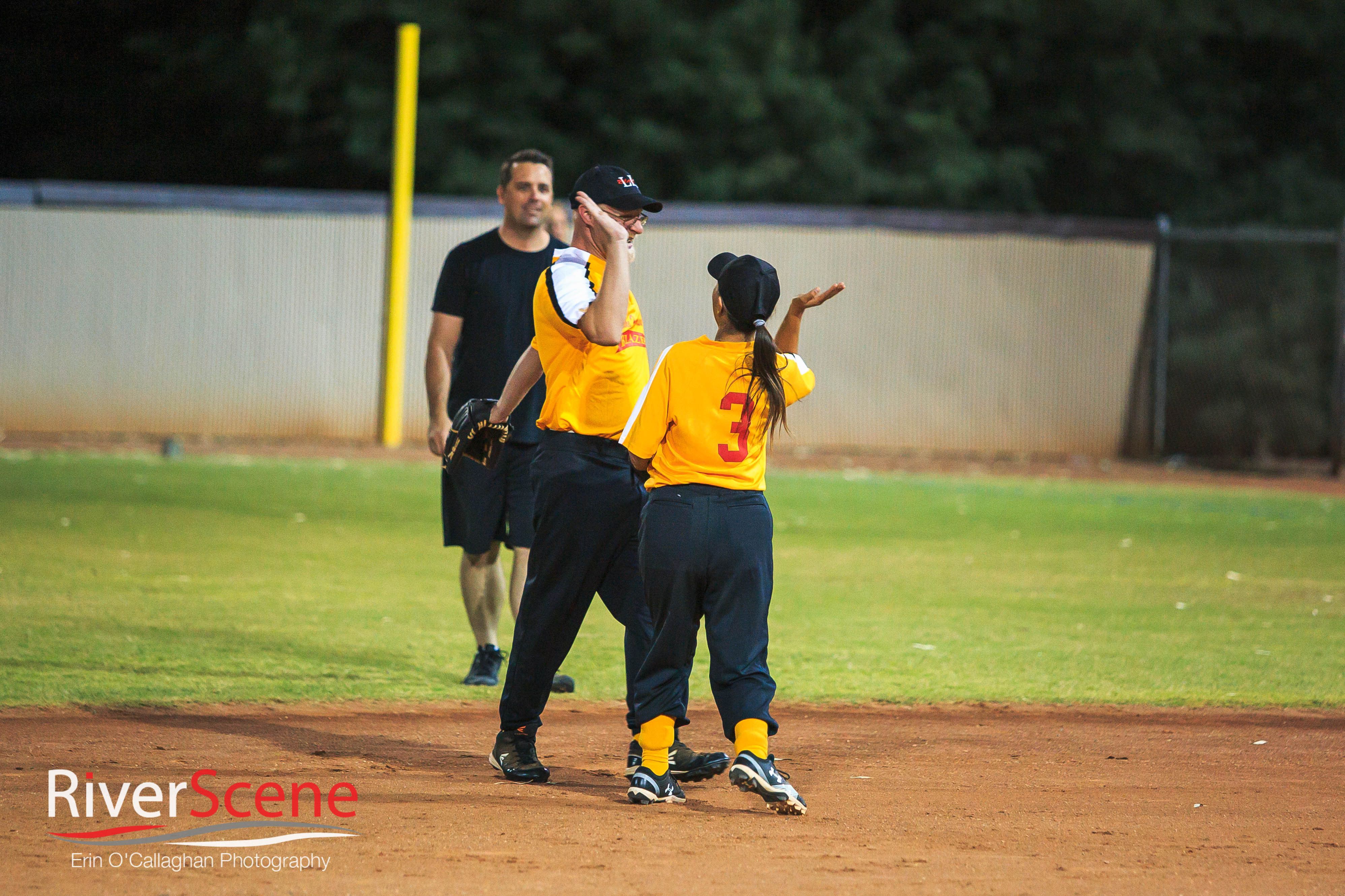 Special Olympians Show Softball Skills Against PD