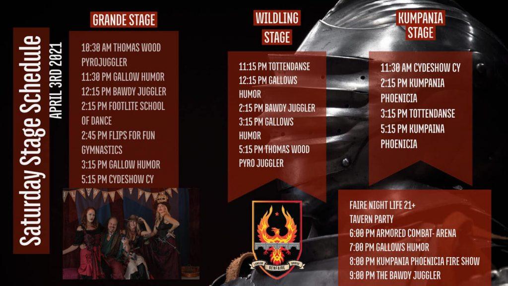 Ren Faire Schedule