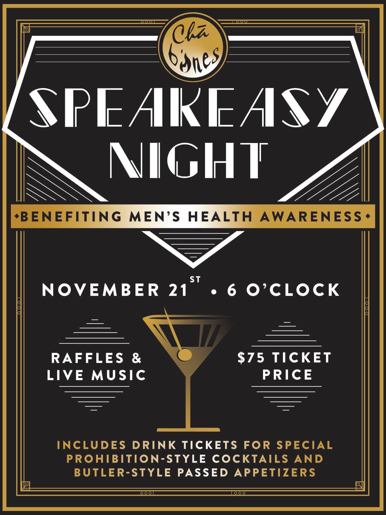 Speakeasy Men's Health Awareness Benefit