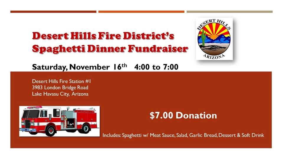 Desert Hills Firehouse Spaghetti Dinner Fundraiser