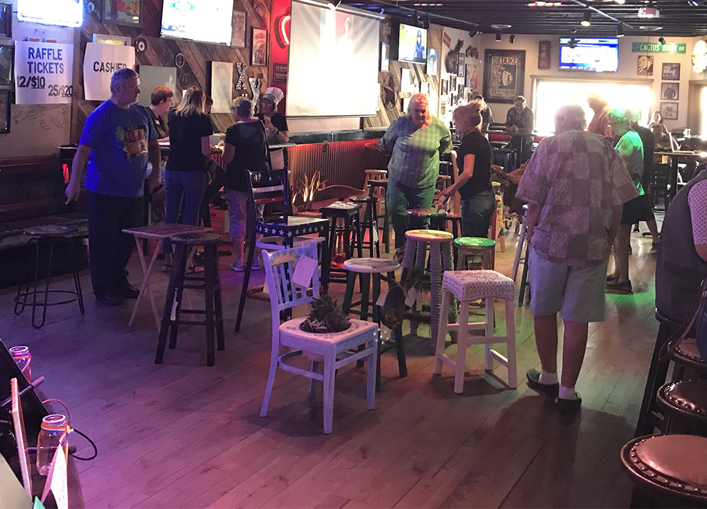 Big Success For 4th Annual Barstool Auction At The Flying X On Saturday