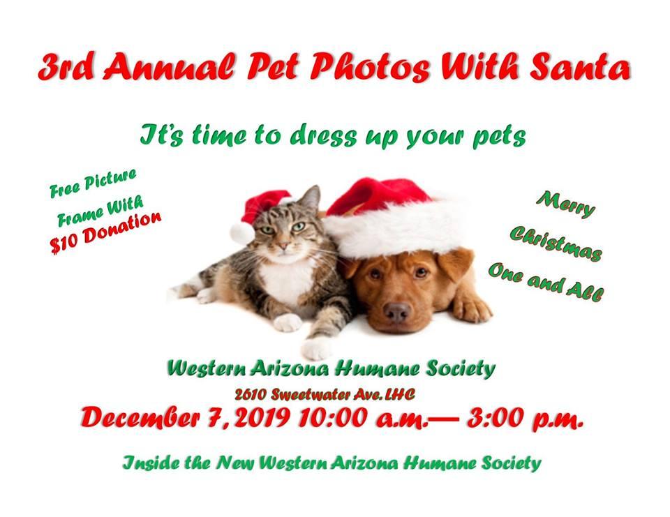 3rd Annual Pet Photos with Santa WAHS
