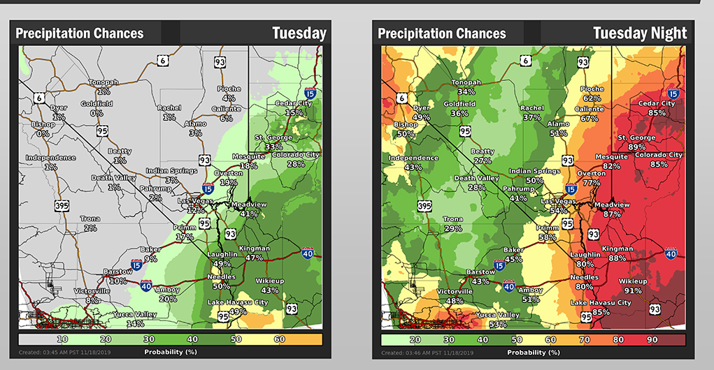 Thunderstorms, Possible Flash Flooding Forecast For Lake Havasu Tuesday Afternoon