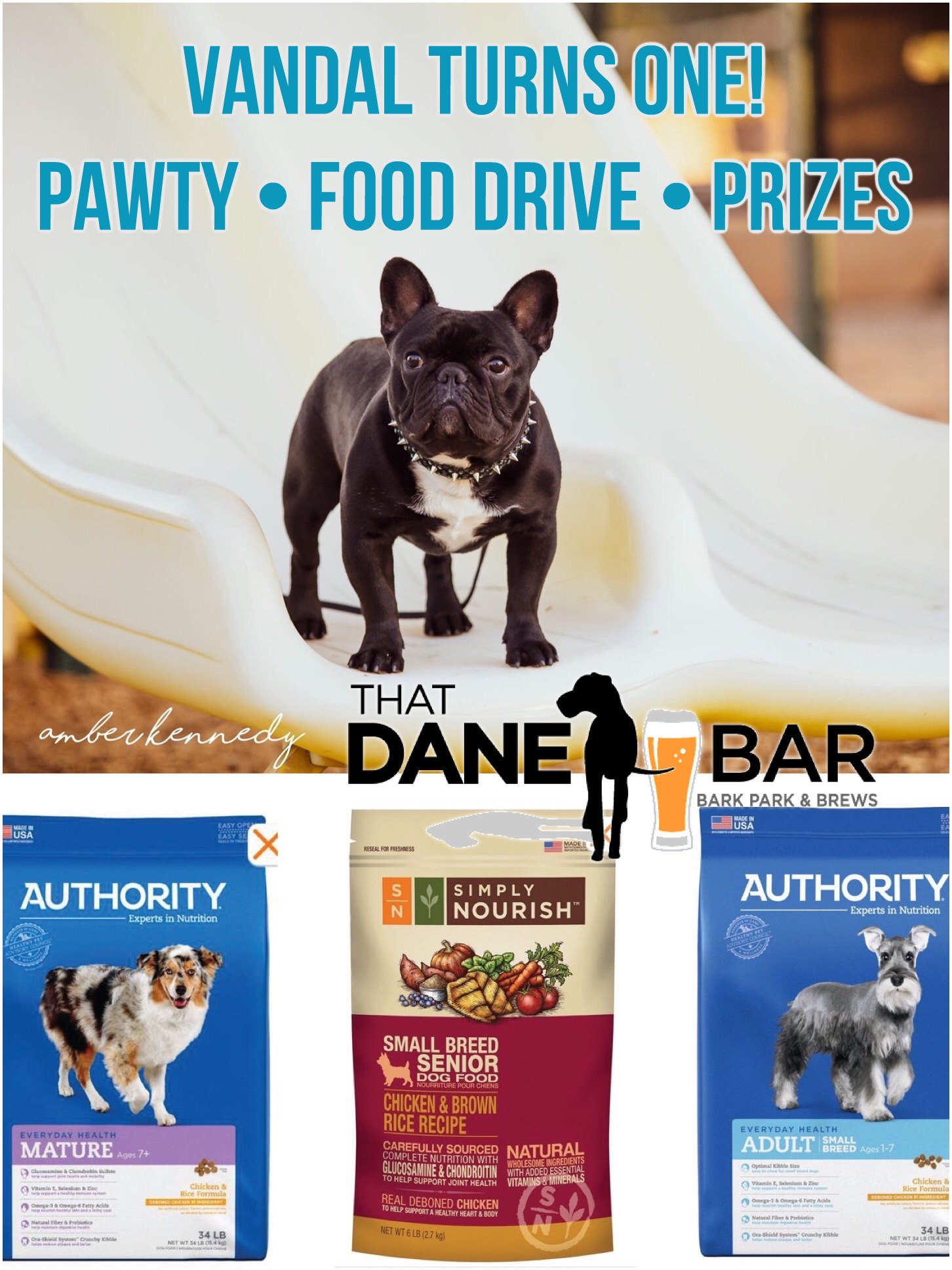 Vandal's Turning One And Pet Food Drive