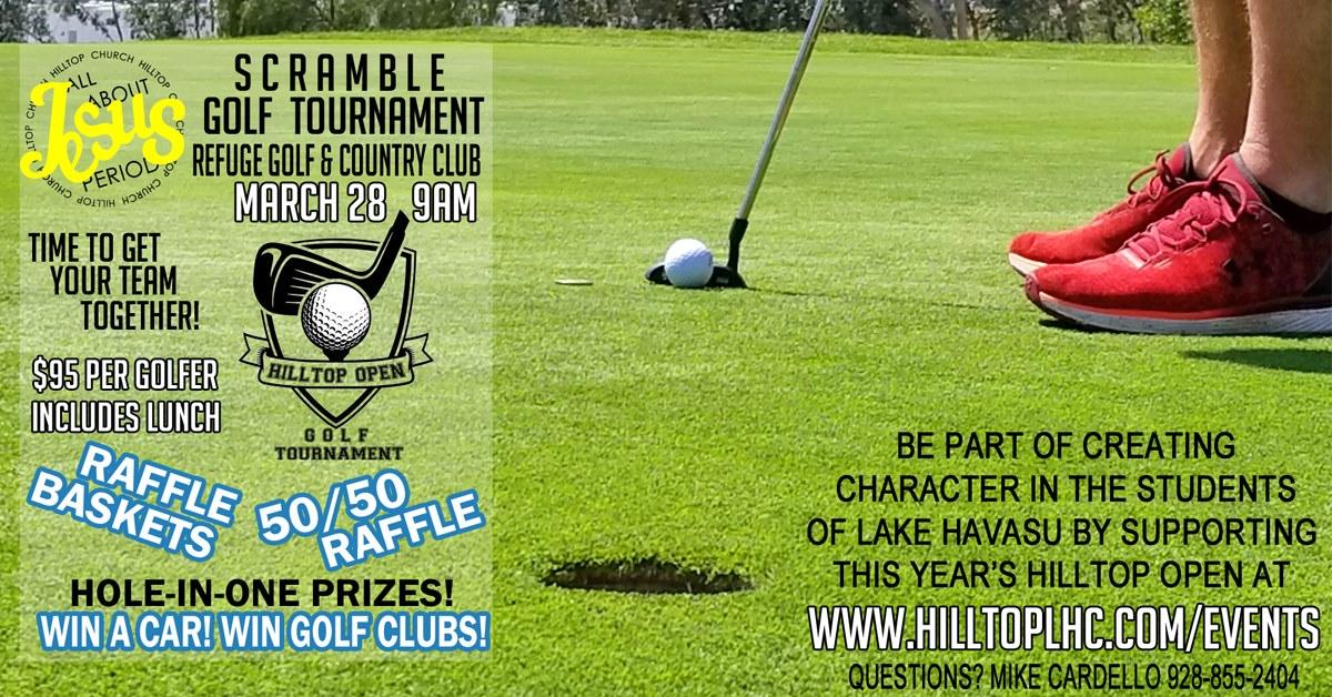 Scramble Golf Tournament is now postponed