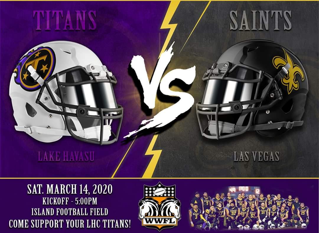 Lake Havasu Titans vs Las Vegas Saints football