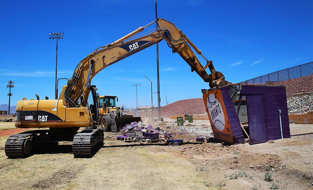 Construction Begins At LHHS John M. Wade Baseball Field