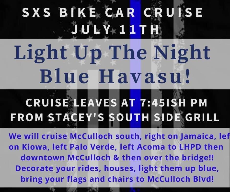 Light Up the Night Blue Havasu – Car Bike SXS Cruise