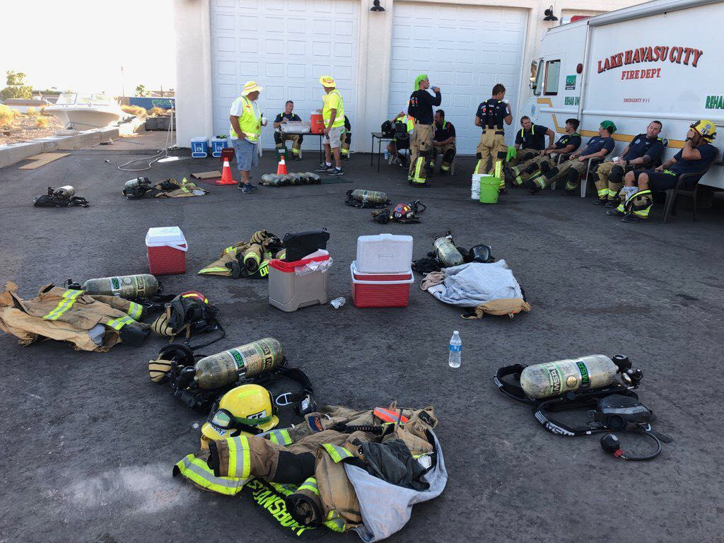 C.E.R.T. Spells Relief For Havasu Firefighters During Triple Digit Temps