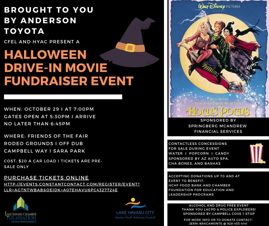 Halloween Drive-in Movie Fundraising Event