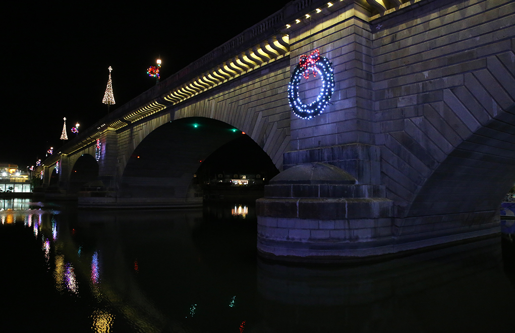 London Bridge Lake Havasu City, AZ Christmas 2020
