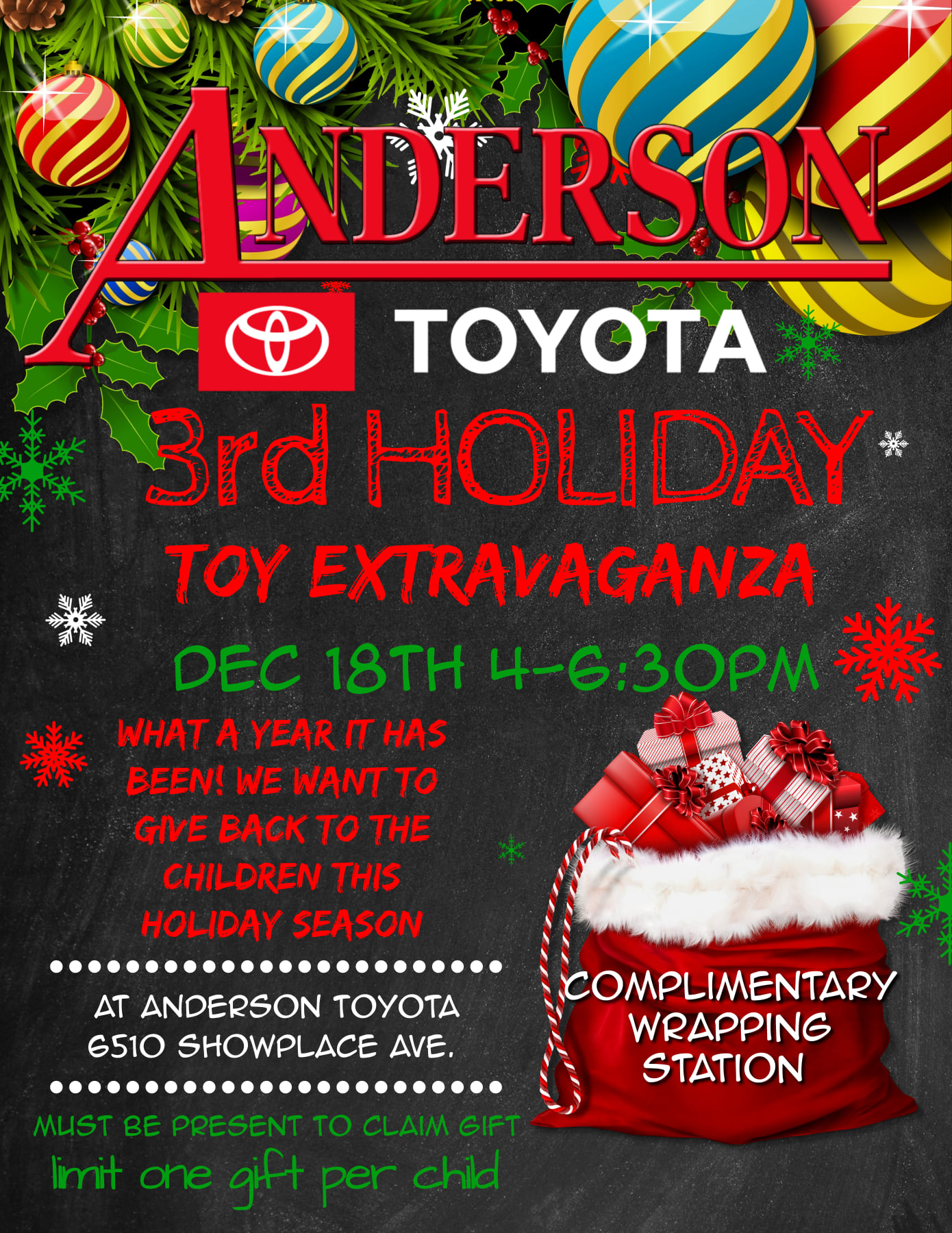 Anderson Toyota Toy Giveaway