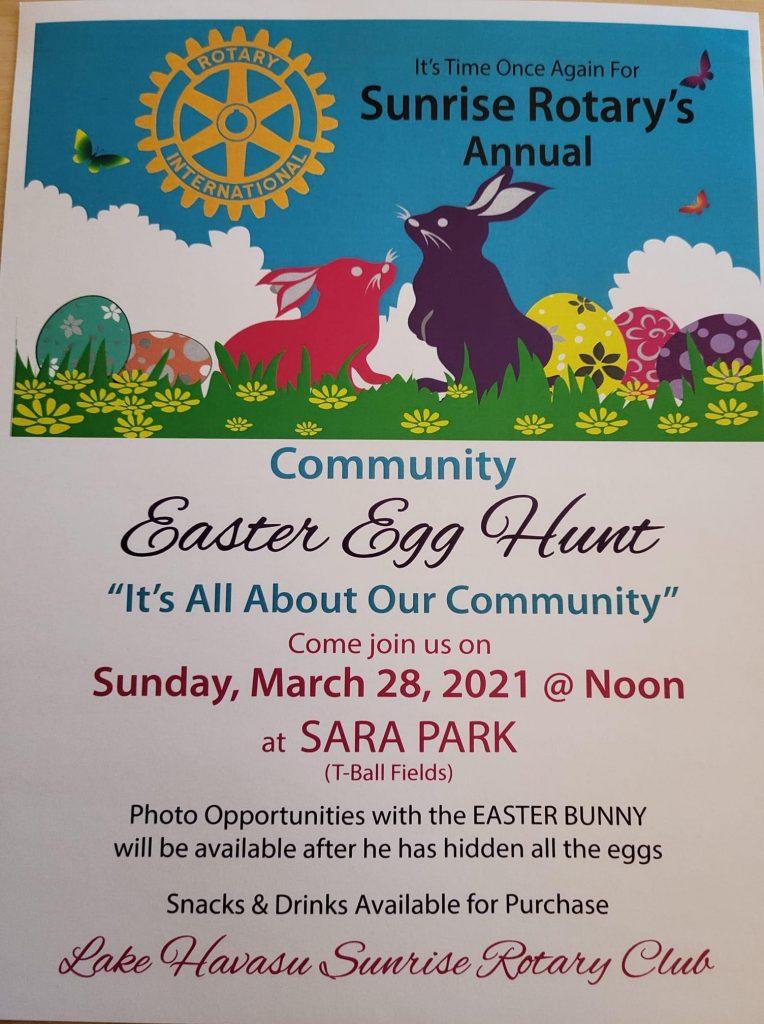 Sunrise Rotary Easter Egg Hunt Lake Havasu City