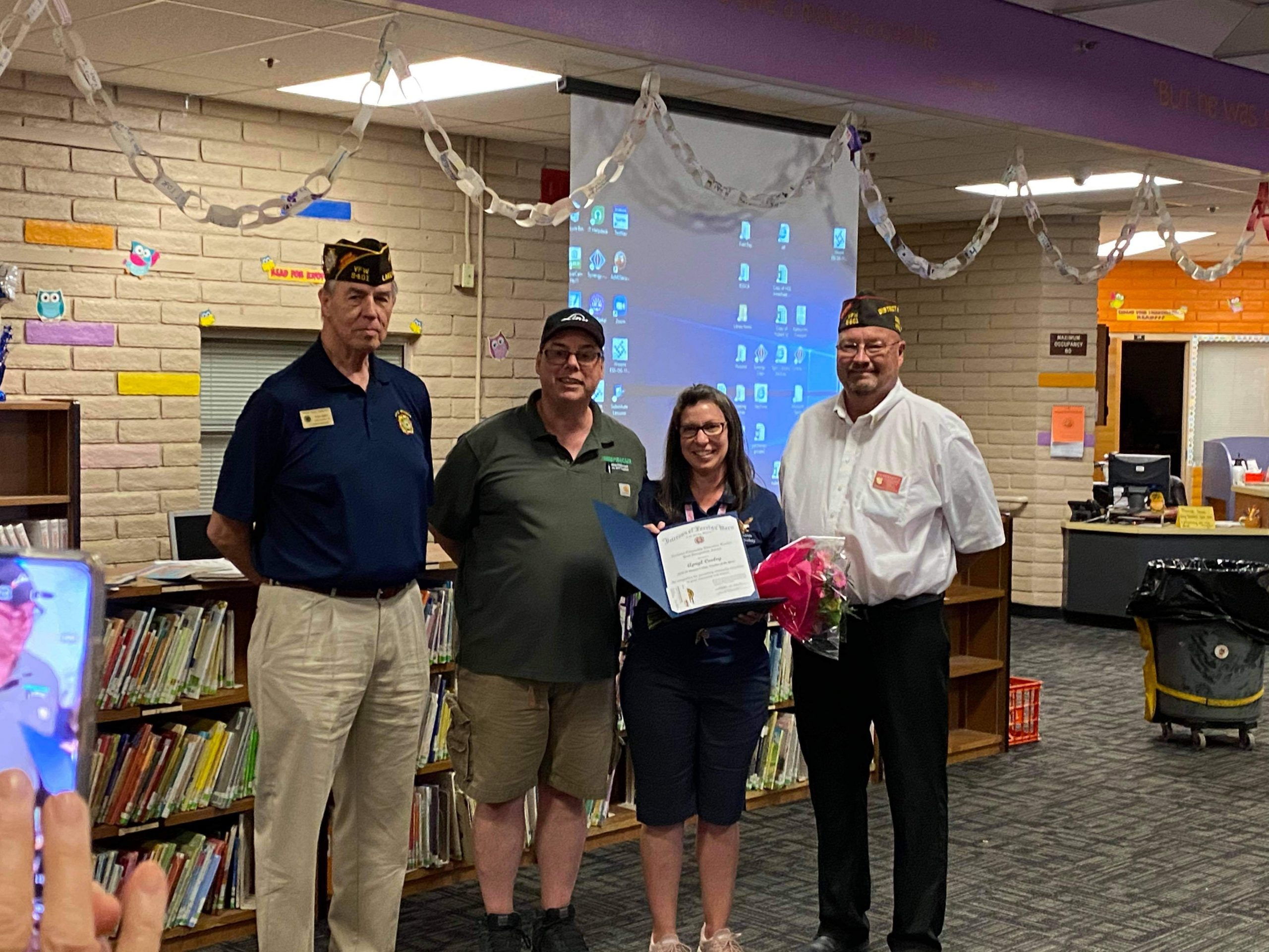 Oro Grande Classical Academy Teacher Honored By VFW