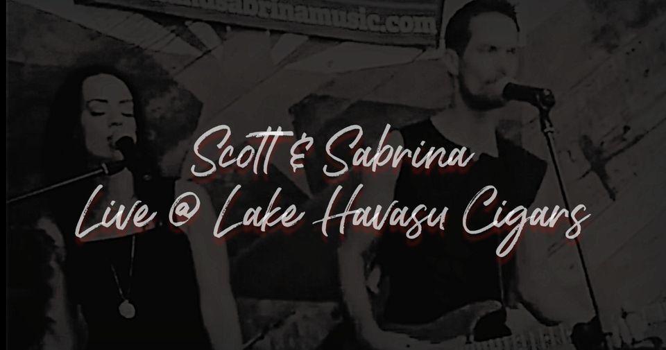 Scott and Sabrina at Lake Havasu Cigars