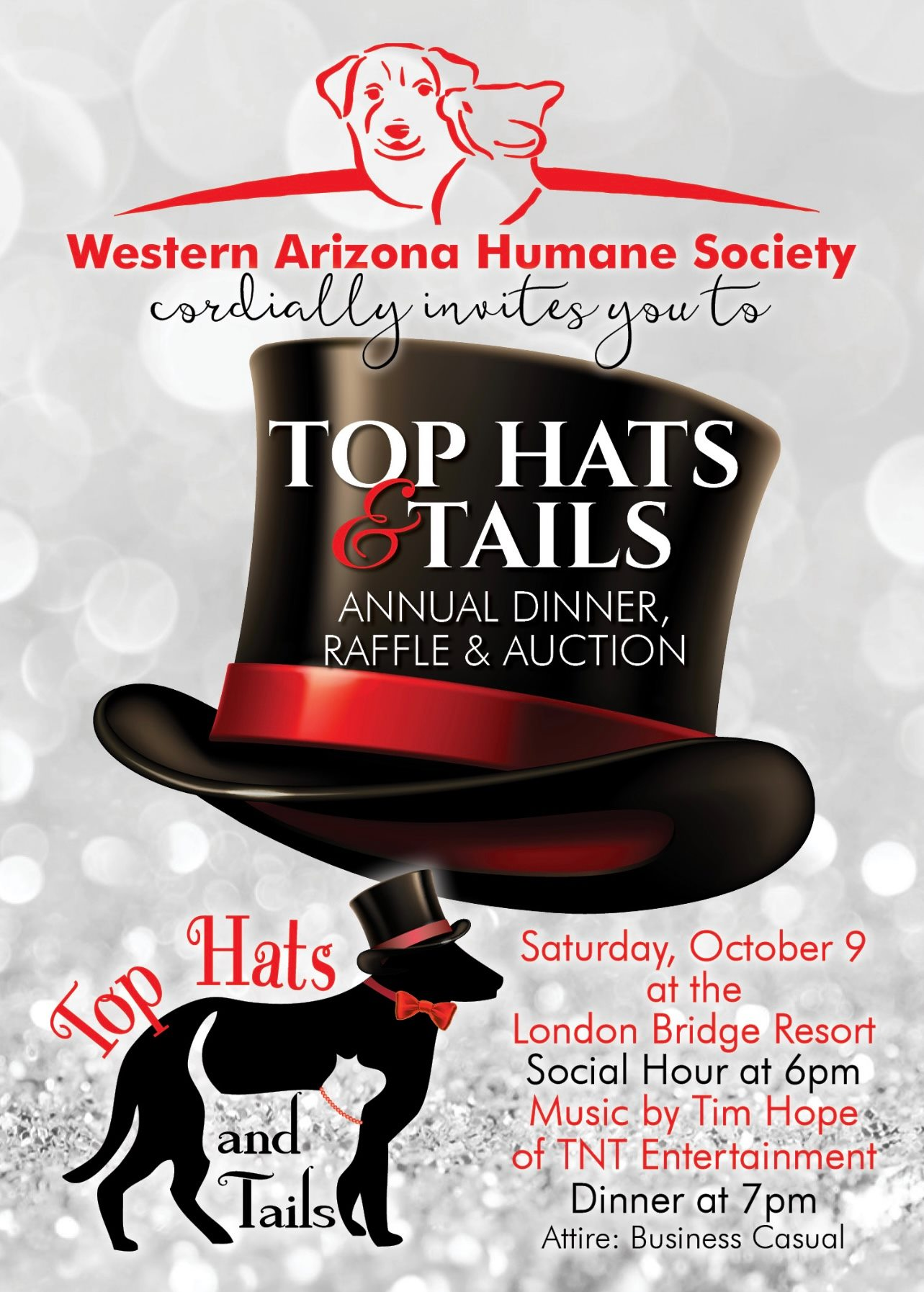 Top Hats And Tails Annual Dinner, Raffle And Auction