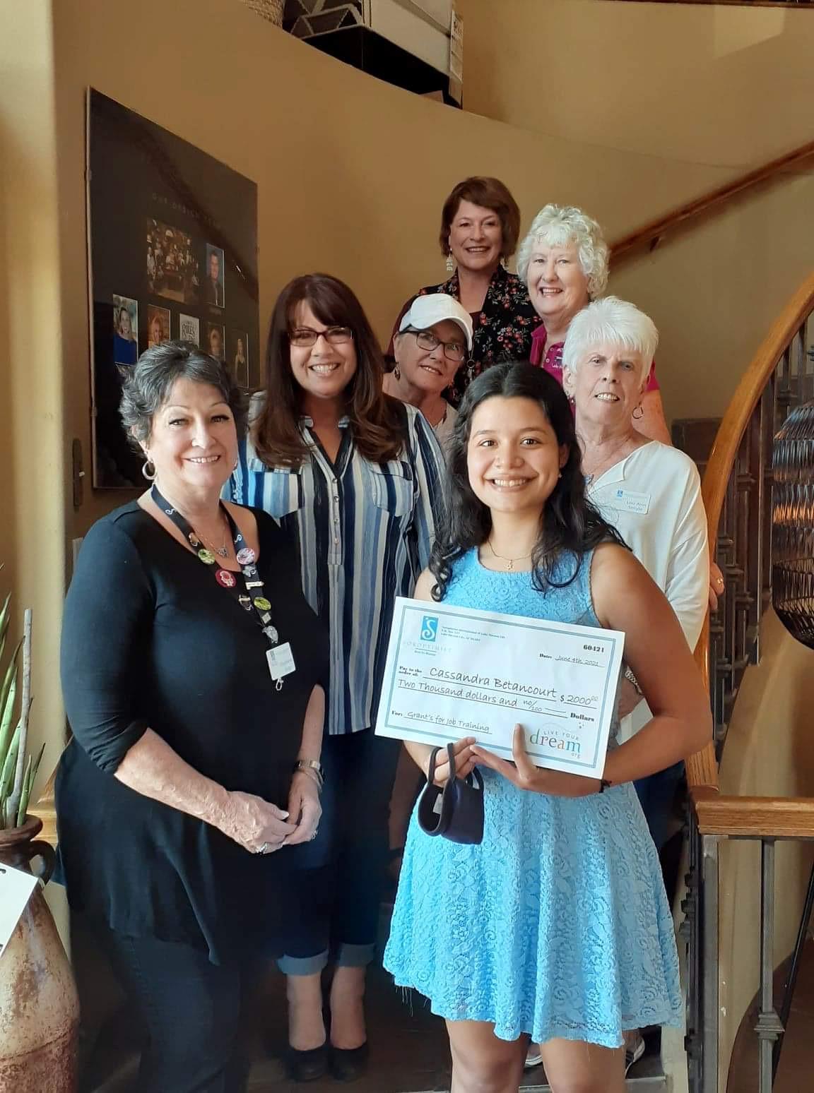 Lake Havasu City Soroptimists Award Grant To Local Woman