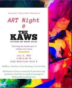 Art night Kaws