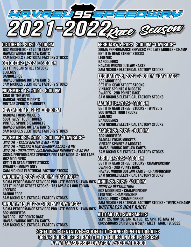Havasu 95 Speedway 2021-2022