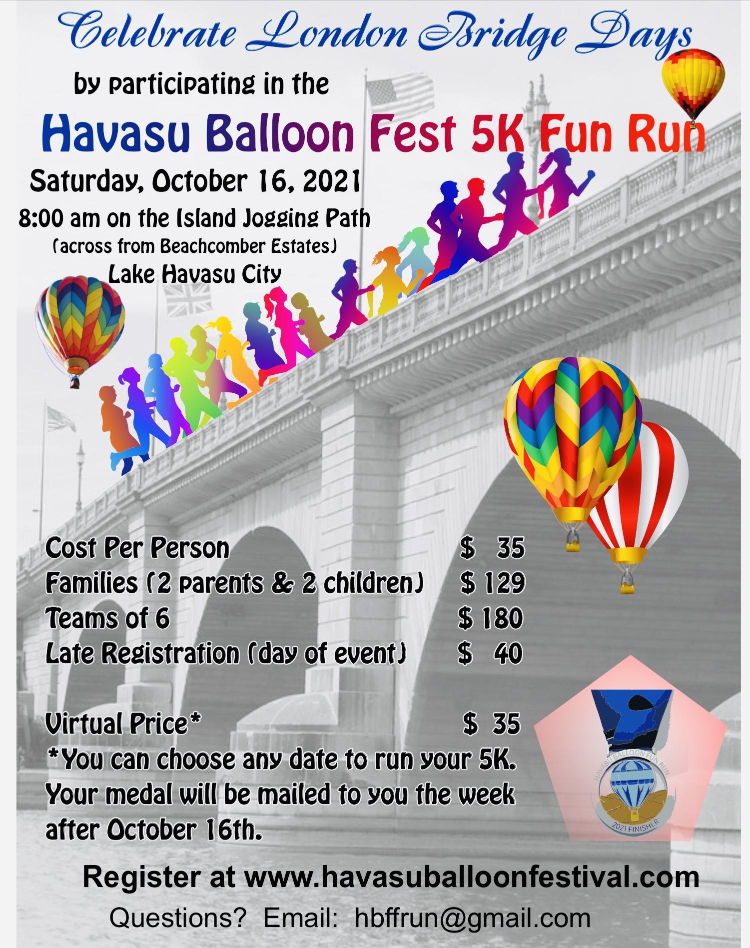 Havasu Balloon  Fest 5K Fun Run