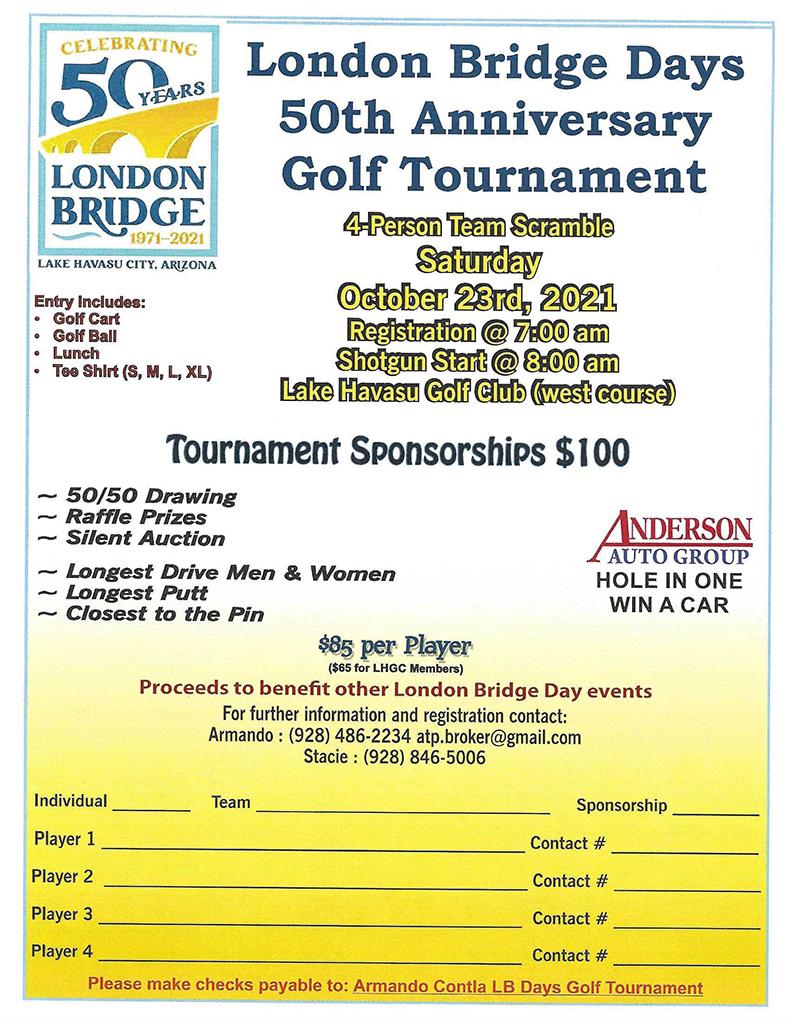 London Bridge Days 50th Anniversary Golf Tournament