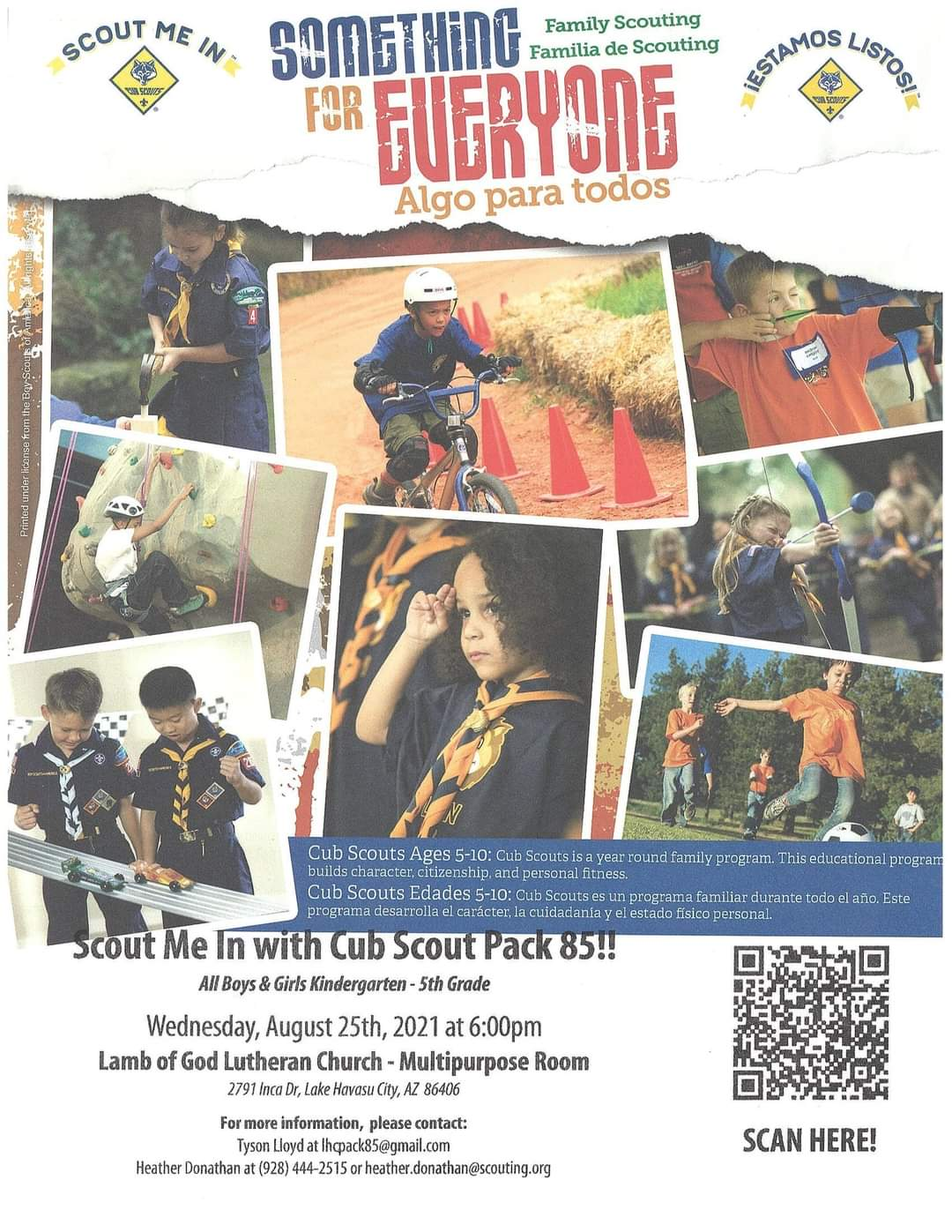 Cubscouts Recruitment Night