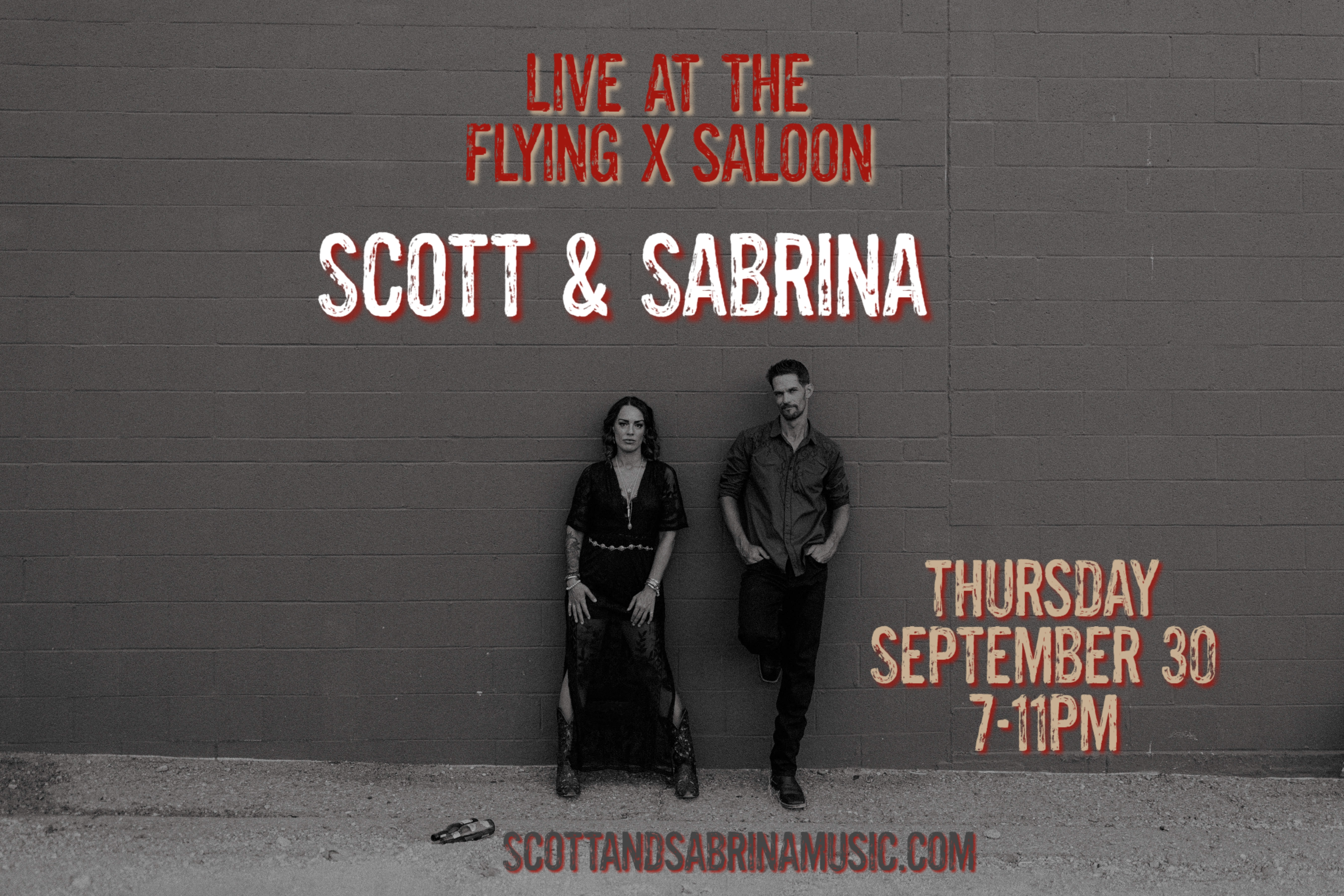 Scott and Sabrina Live at the Flying X Saloon