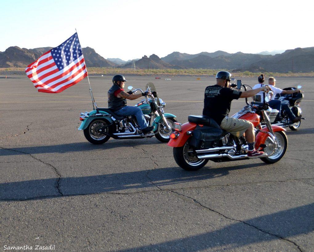Havasu Motorcycle Groups 'Rattle The Runway' on 9/11