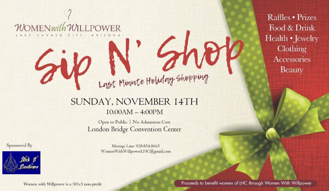 Women With Willpower – Sip and Shop