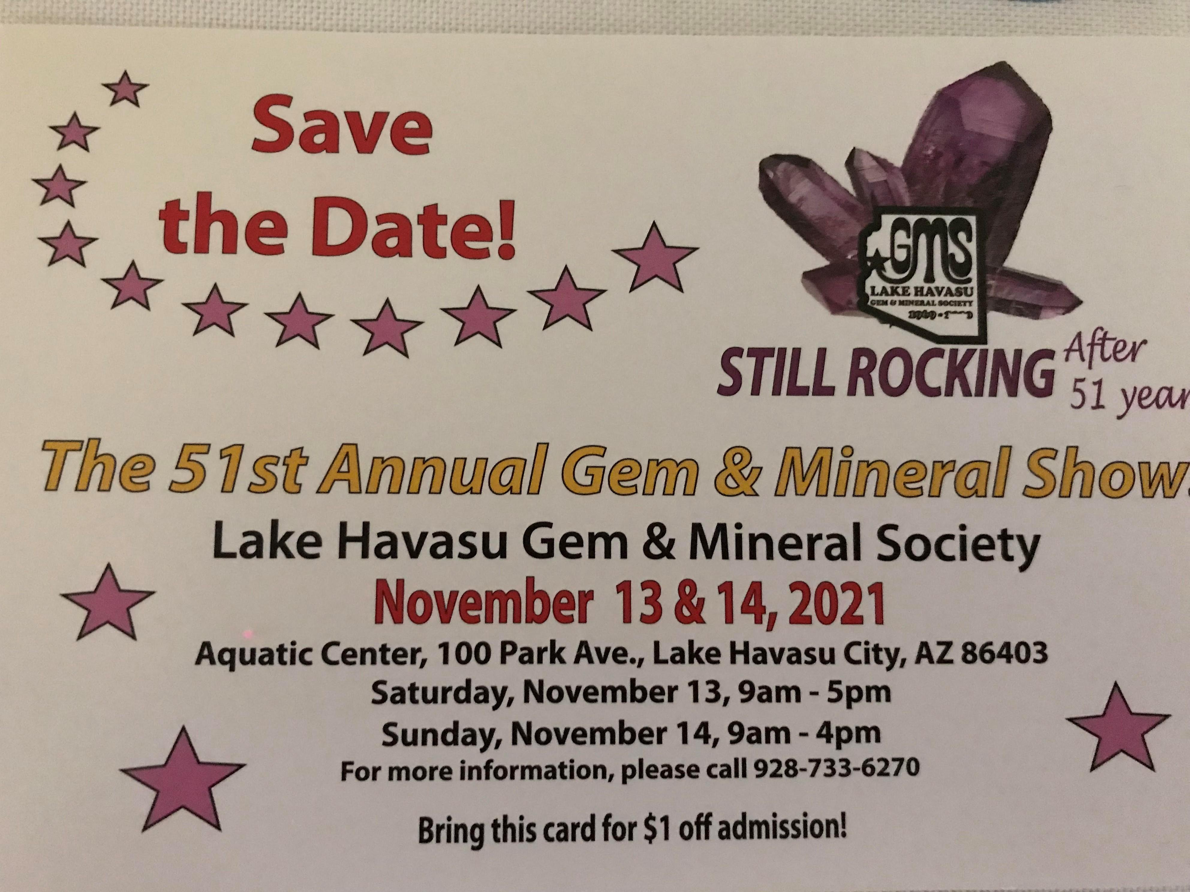51st Lake Havasu Gem and Mineral Show